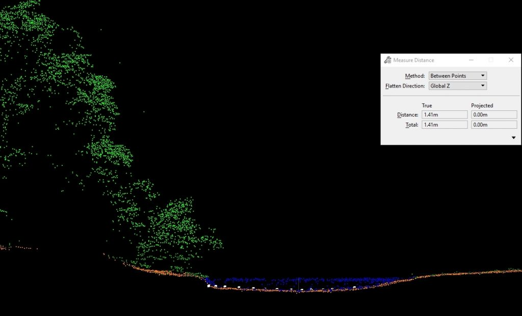 Bathymetric LIDAR profile